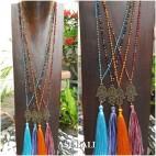 4color hamsa buda prayer handmade fashion tassels necklace
