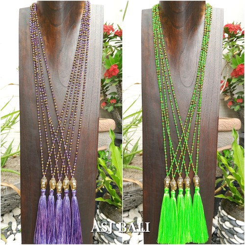 bali budha head medium necklaces tassels pendant fashion accessories