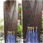 bali budha prayer bronze pendant tassels necklaces handmade