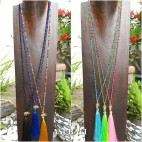 mix color and style tassels pendant necklace budha head elephant bronze