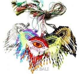 5color evil eyes miyuki beads necklace pendant fashion