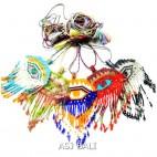 5color evil eyes necklace fashion beads miyuki bali design