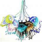 5color necklaces beads miyuki pendant evil eyes design bali