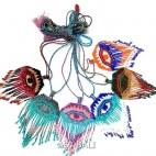 6color necklace beads fashion string miyuki evil eyes pendant