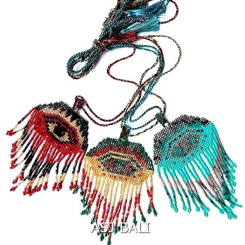evil eyes design miyuki beads necklaces pendant charm