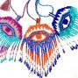evil eyes miyuki beads 3color fashion necklaces pendant charm