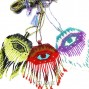 evil eyes miyuki beads 3color necklaces pendant nylon strings
