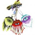 evil eyes miyuki beads 3color necklaces pendant nylon strings