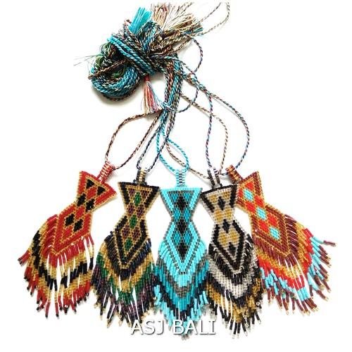 fashion necklaces miyuki beaded crystal pendant shape