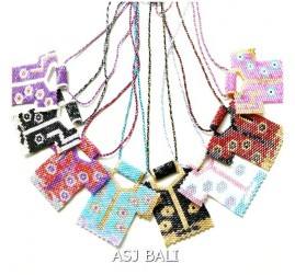 miyuki beads strings necklaces pendant baby cloth design