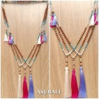 bali fashion tassels necklaces mix beads elegant design 3color
