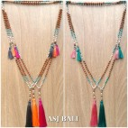 bali fashion tassels necklaces mix beads elegant design 5color