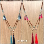 bali fashion tassels necklaces mix beads elegant design new 4color