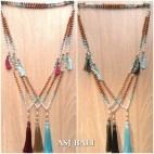 bali fashion tassels necklaces mix beads elegant style 5color