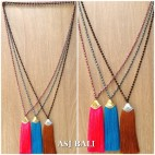 bali tassels necklace crystal beads strand handmade fashion 3color