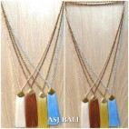 balinese tassels necklace crystal beads handmade fashion style
