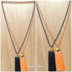 balinese tassels necklace crystals beads handmade fashion