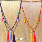 beads necklace tassels pendant mono strand fashion bali design 5color