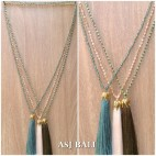 crystal beads tassel pendant golden chrome king caps necklace fashion
