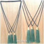 king caps chrome golden toska tassels pendant necklace crystal beads