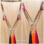 mala rudraksha tassels necklaces mix beads yoga prayer design 3color