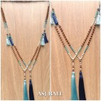 mala rudraksha with beads stone necklaces tassels handmade 2color