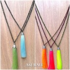 bali silver chrome caps tassels necklaces crystal beads fashion