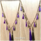 bali wooden bead necklaces tassels handmade design 2color