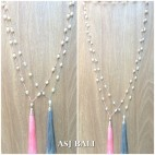 fresh water pearls single layer tassels necklaces fashion 2color