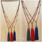 mix beading pendant tassels fashion necklaces 3color