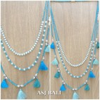 multi tassels necklaces beads triple seeds fashion accessories