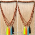 organic rudraksha mala bead necklace tassels prayer yoga deign 4color