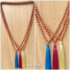 tassels necklaces pendant prayer rudraksha beads handmade 3color