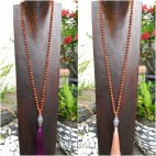 mala rudraksha organic bead necklace tassel budha head prayer