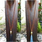 mala rudraksha bead necklace tassels with budha head prayer