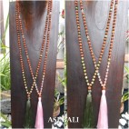 rudraksha glass beads necklace tassel pendant fashion accessories