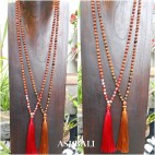 rudraksha glass beads tassels necklace pendant women fashion accessories