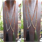 rudraksha glass beads tassels necklace pendant women fashion jewellery