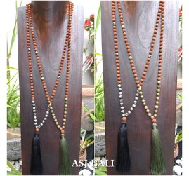 rudraksha glass beads tassels necklace pendant women fashion jewellery