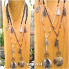 beads necklace charms tassels pendant mother pearl seashell 2color