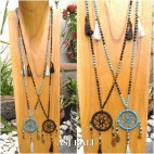 dream catcher fashion necklace mix bali beads handmade 2color