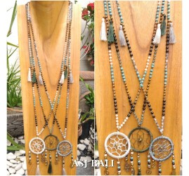 dream catcher necklaces pendant with tassels 3color fashion