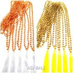 2color fashion necklaces full crystal pendant tassels