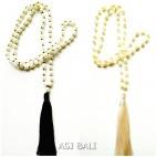 2color full fresh water necklaces pendant tassels black cream