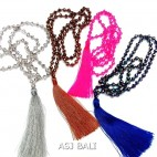 4color full crystal beads necklaces handmade design Bali