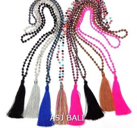8color crystal beads tassels necklaces mix style fashion