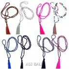 8color crystal beads tassels necklaces mix style fashions