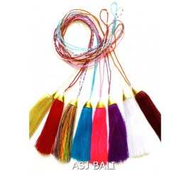 8color tassels necklaces crystal beads pendant fashion