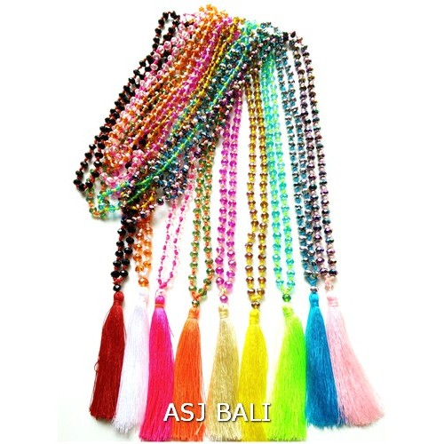 all color crystal beads necklaces pendant collections fashion