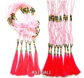 beads necklaces tassels long strand fashion accessories